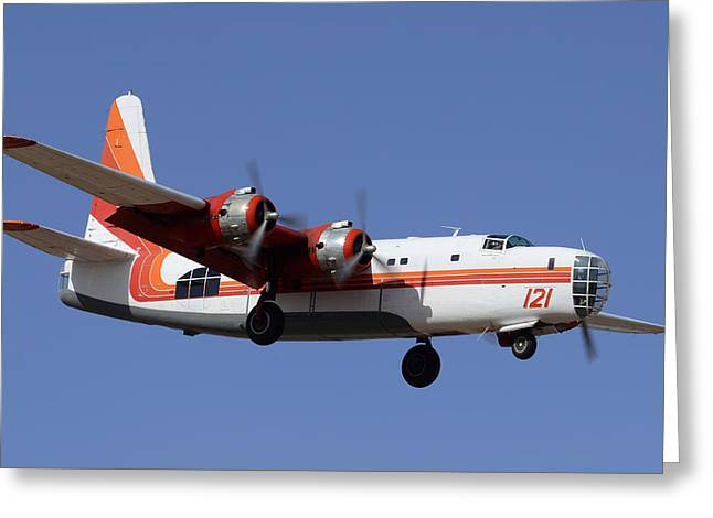 Consolidated P4y-2 Privateer N2871g Tanker 121 Phoenix-mesa Gateway Airport March 9 2012 Greeting Card by Brian Lockett