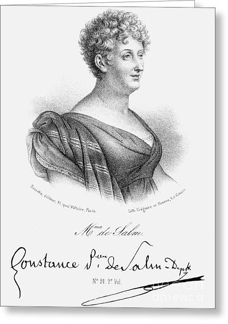 Constance De Salm Greeting Card by Granger