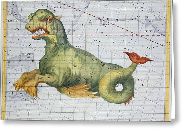 Constellation Of Cetus The Whale Greeting Card