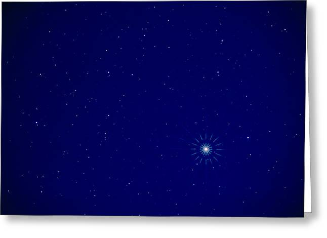 Constellation Of Leo With Jupiter Greeting Card by Pekka Parviainen