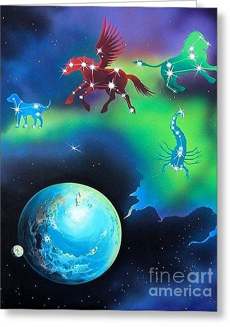 Constellations Greeting Card by Kimberlee  Ketterman Edgar