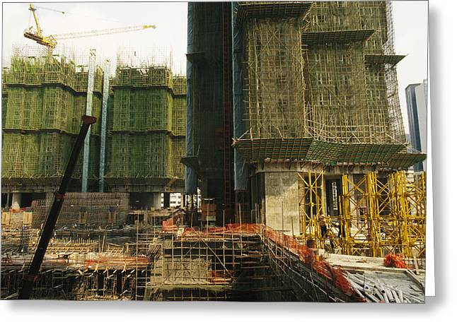 Construction And Building Is Booming Greeting Card