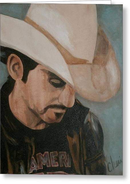 American Cowboy Artist Greeting Cards - Contemplation Greeting Card by Cheri Stripling