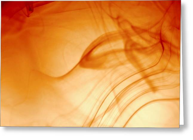 Contemporary Abstract Smoke Wisps Greeting Card by Tracie Kaska