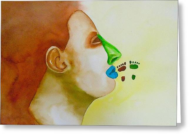 Greeting Card featuring the painting Contemporary Genetics by Sharon Mick
