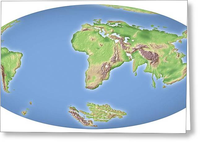 Continental Drift After 100 Million Years Greeting Card by Mikkel Juul Jensen
