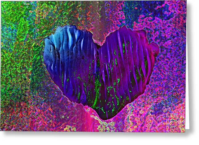 Greeting Card featuring the photograph Contours Of The Heart by David Pantuso