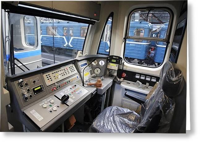 Controls Of A Metro Train In Russia Greeting Card by Ria Novosti