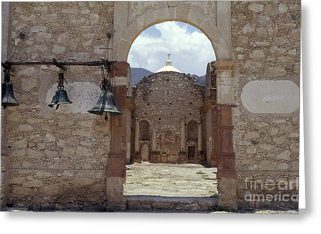 Convent Church Bells  Mexico Greeting Card by John  Mitchell