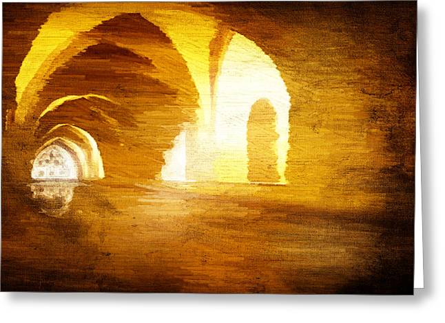 Greeting Card featuring the digital art Convento by Andrea Barbieri