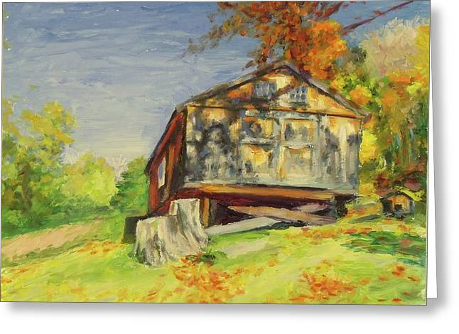 Converted Barn Orrs Mill Ny Greeting Card