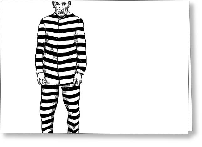 Convict Greeting Card