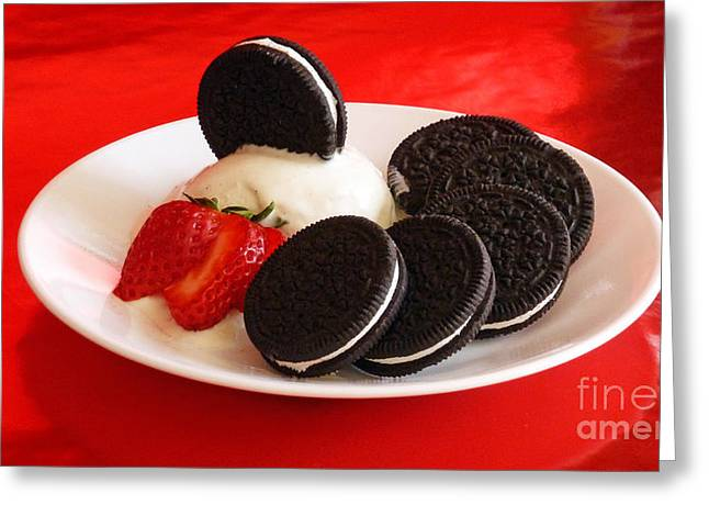 Cookies N Cream Greeting Card by Methune Hively