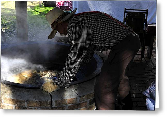 Cooking Cane Greeting Card by David Lee Thompson