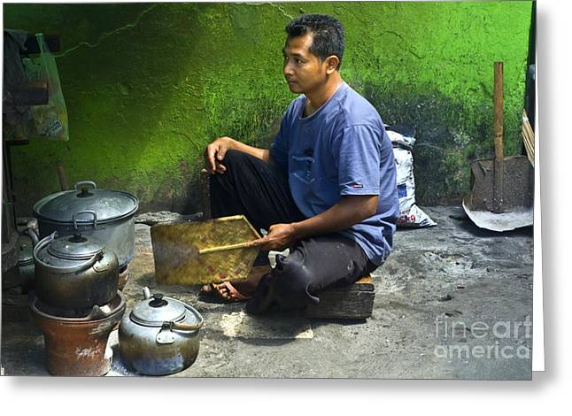 Cooking Greeting Card by Charuhas Images