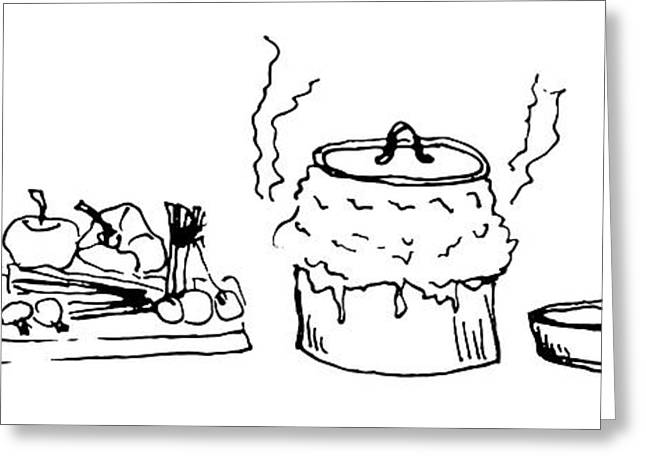 Cooking With Love Greeting Card by Chantel Martins