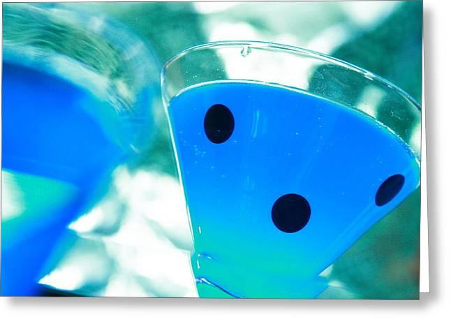 Cool Blue  Greeting Card by Toni Hopper