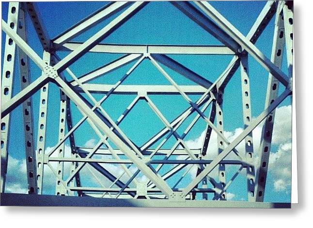 Cool #bridge #ohio Greeting Card by Melissa Wyatt