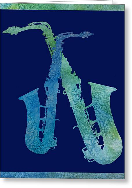 Cool Jazzy Duet Greeting Card by Jenny Armitage
