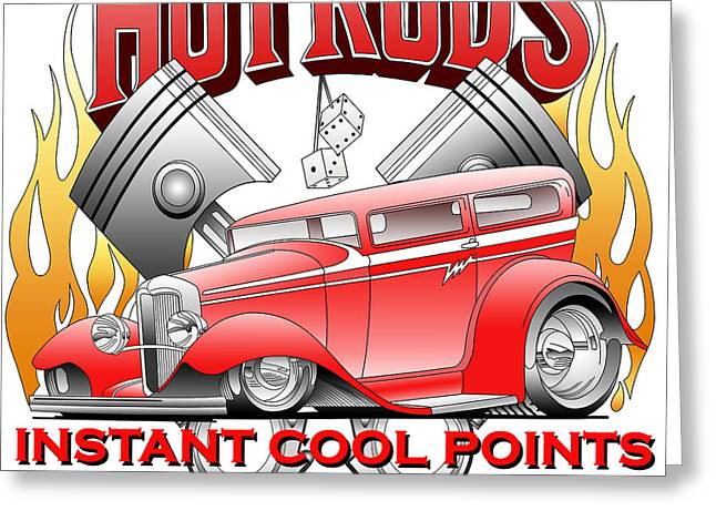 Cool Points Greeting Card by Lyle Brown