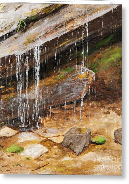 Cool Water Greeting Card by Carla Dabney
