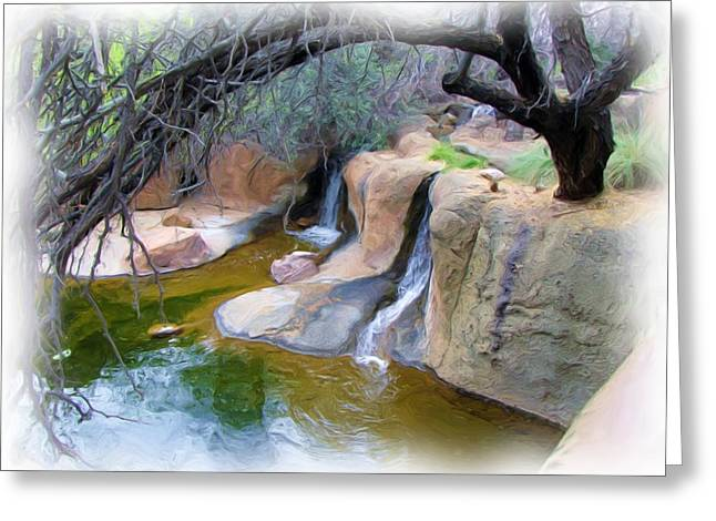 Cool Waters Greeting Card by FeVa  Fotos