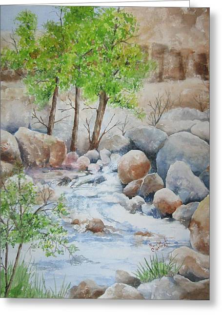 Cooling Stream II Greeting Card