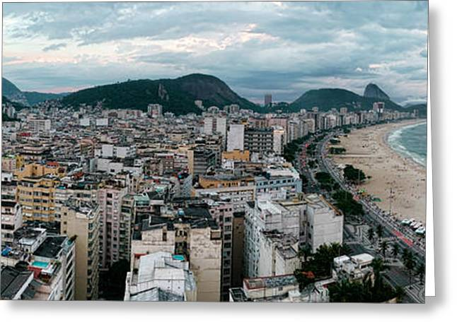 Copacabana Sunset Greeting Card