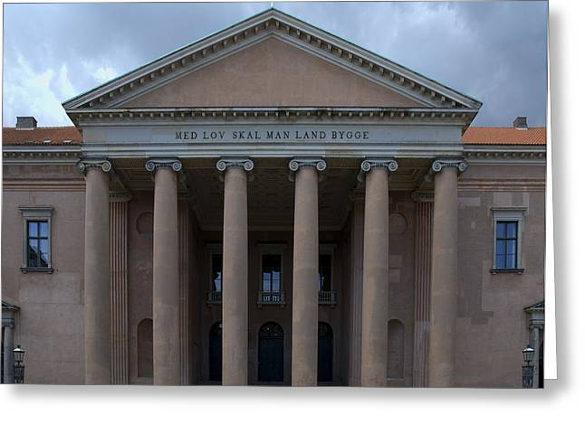 Greeting Card featuring the photograph Copenhagen Courthouse by Steven Richman