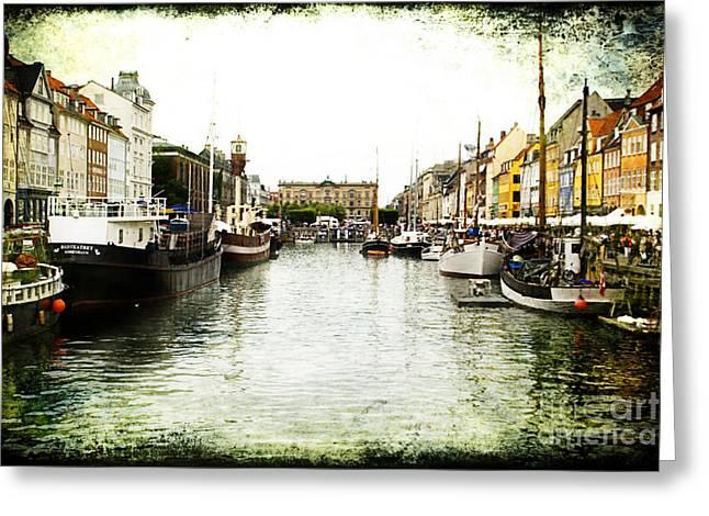 Copenhagen Denmark Greeting Card by Joan McCool