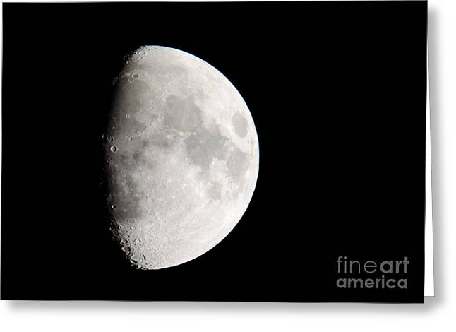 Copernicus In Oceanus Procellarum The Monarch Of The Moon Greeting Card by Andy Smy