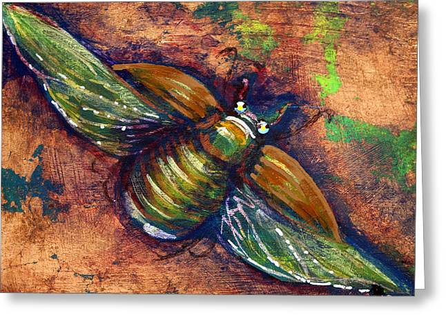 Copper Beetle Greeting Card