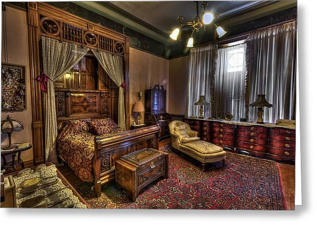 Copper King's Master Bedroom - Butte Montana Greeting Card