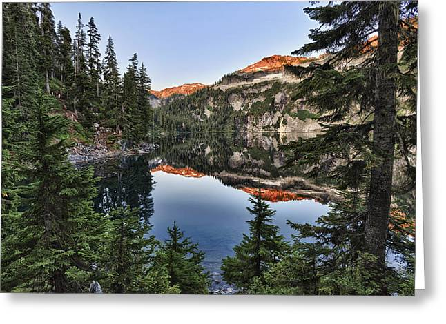 Copper Lake Greeting Card by A A
