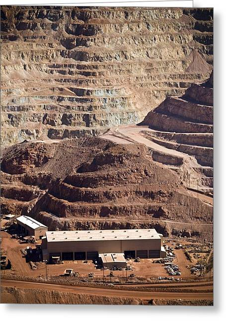 Copper Mine Buildings, Arizona, Usa Greeting Card by Arno Massee