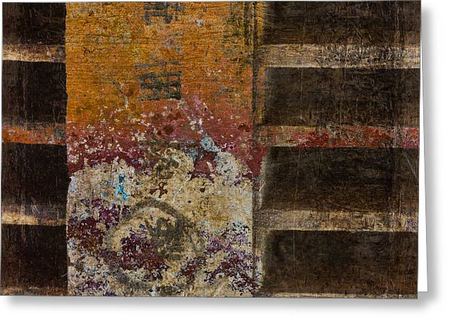 Copperwood Square Greeting Card by Carol Leigh