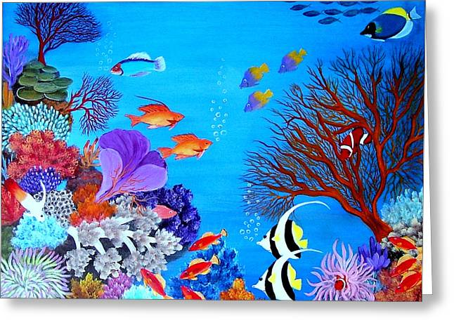 Coral Garden Greeting Card