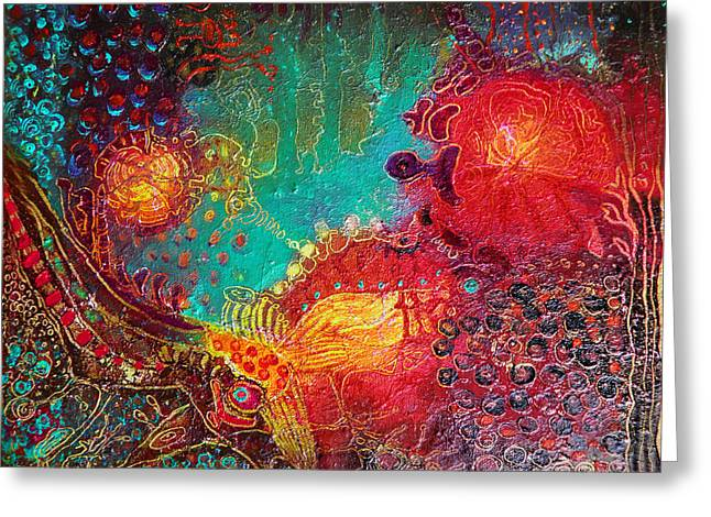 Greeting Card featuring the painting Coral World by Lolita Bronzini