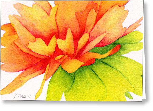 Coreopsis Greeting Card by Sue Lohse