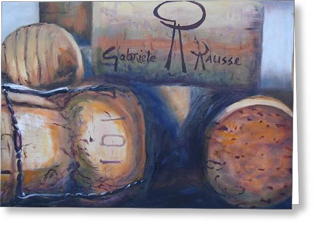 Corks Greeting Card by Donna Tuten