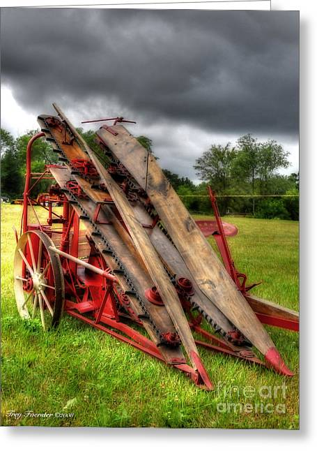 Greeting Card featuring the photograph Corn Binder by Trey Foerster