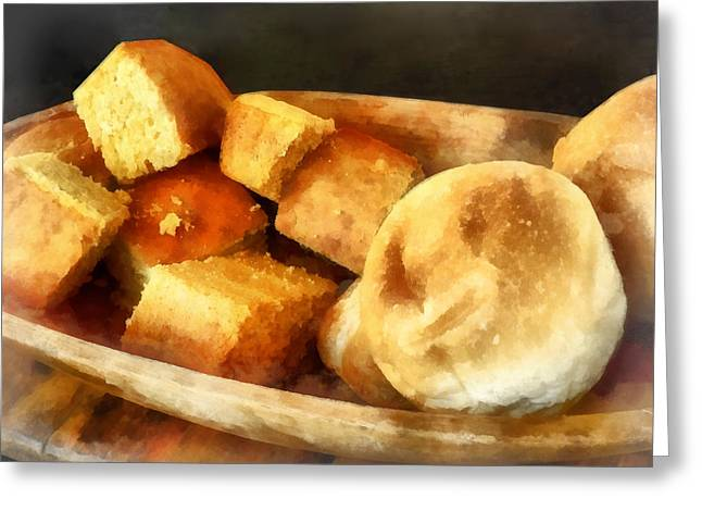 Cornbread And Rolls Greeting Card