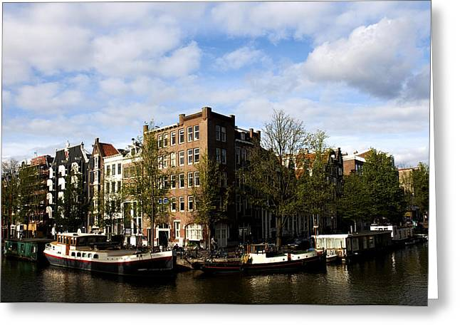 Corner Of Prinsengracht And Brouwersgracht Greeting Card by Fabrizio Troiani