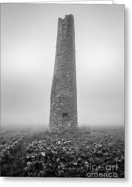 Cornish Mine Chimney Greeting Card