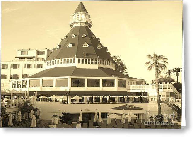 Greeting Card featuring the photograph Coronado Hotel by Jasna Gopic
