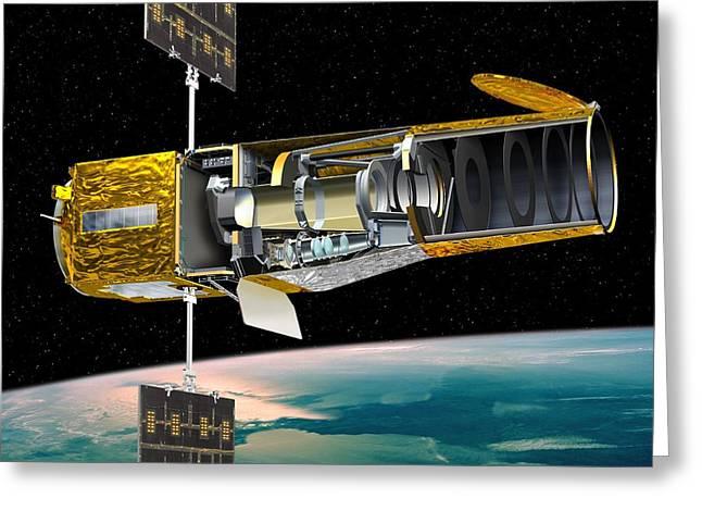 Corot Satellite, Artwork Greeting Card by David Ducros