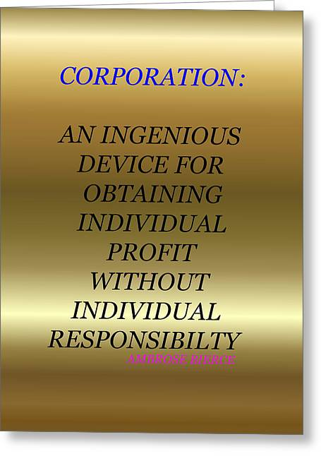 Corporation5 Greeting Card