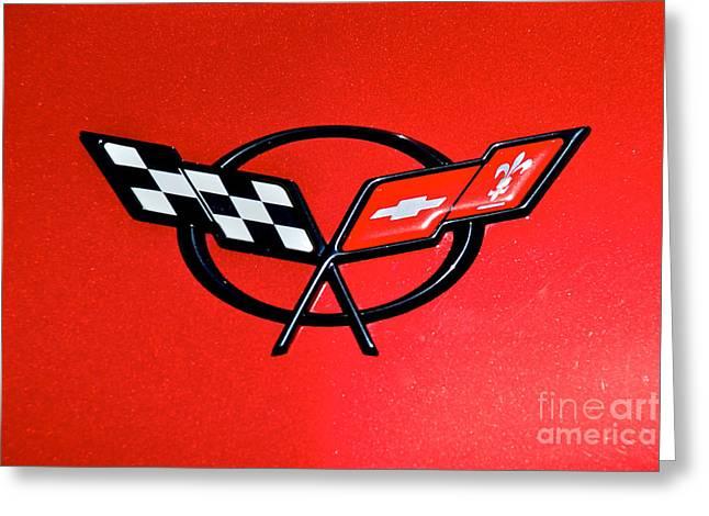 Corvette Logo Greeting Card