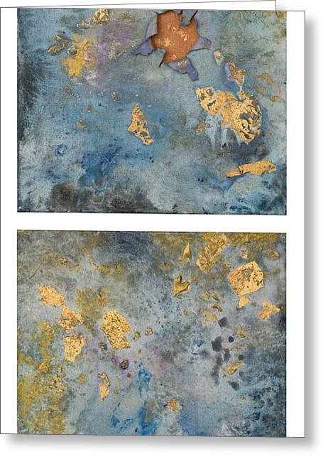 Cosmic 25 Diptych Example Greeting Card by Rita Bentley