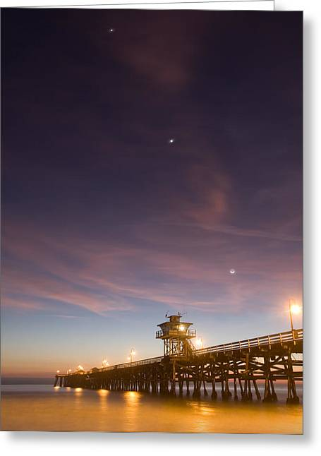 Cosmic Alignment Greeting Card by Cliff Wassmann